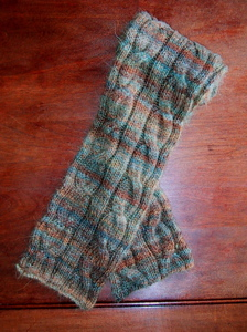 Stripe & Cable scarf