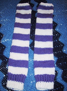 Stripey Arm Warmers